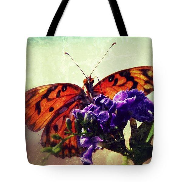 Butterfly Kissed Tote Bag by Darla Wood