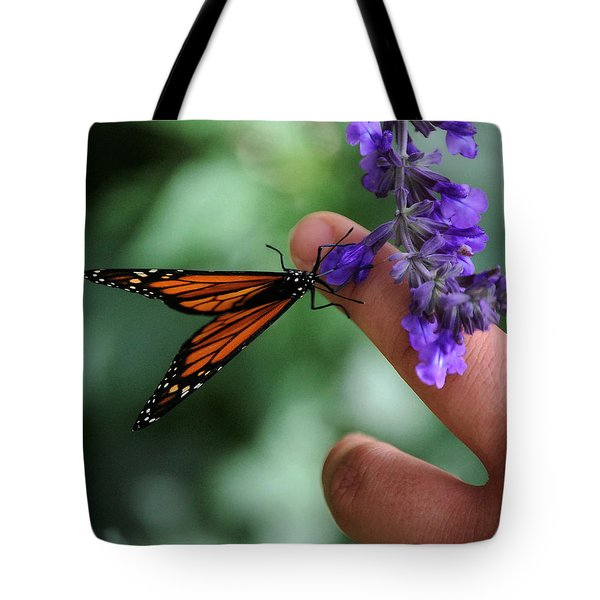 Tote Bag featuring the photograph Butterfly by Leticia Latocki