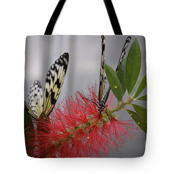Tote Bag featuring the photograph Butterfly Love by Carla Carson