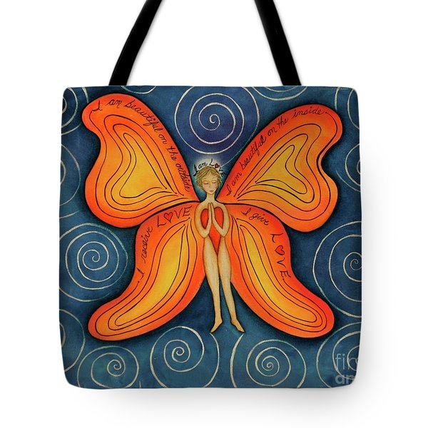Butterfly Mantra Tote Bag by Deborha Kerr