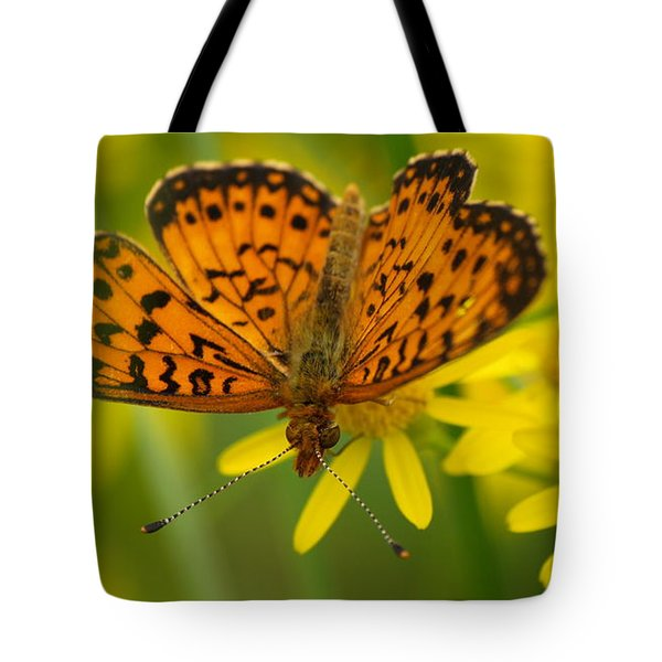 Tote Bag featuring the photograph Butterfly by James Peterson