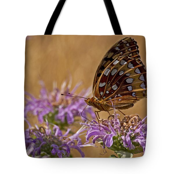 Butterfly On Bee Balm Tote Bag