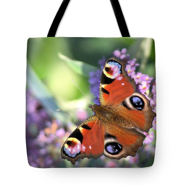 Butterfly On Buddleia Tote Bag by Gordon Auld