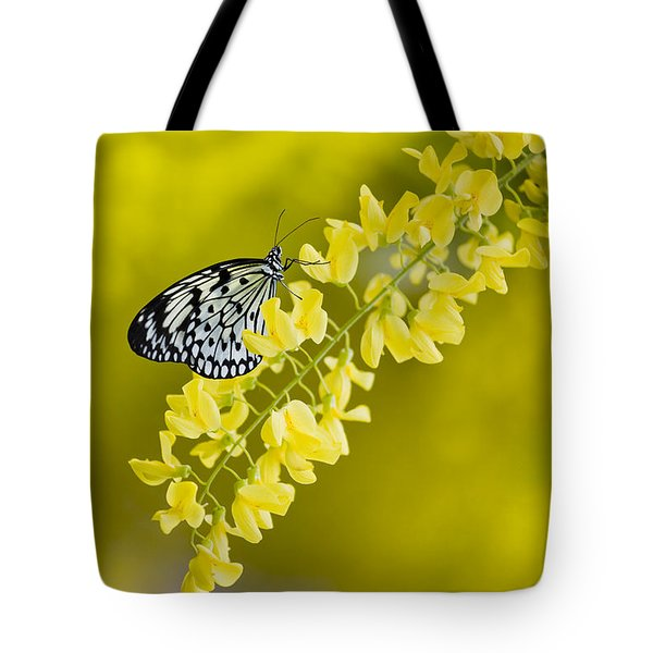 Butterfly On Laburnum Tote Bag