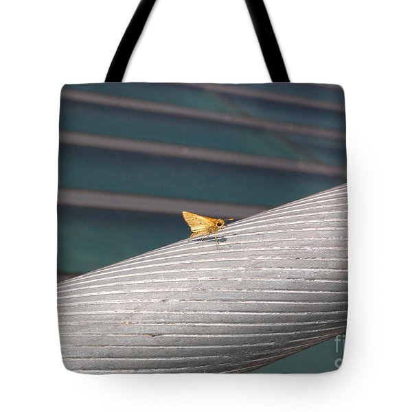 Butterfly On Sundial Bridge Tote Bag