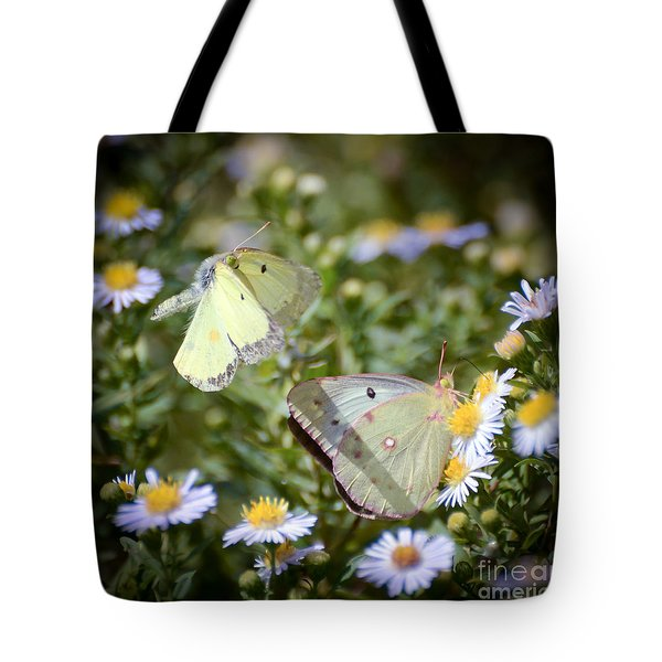Tote Bag featuring the photograph Butterfly Moments  by Kerri Farley