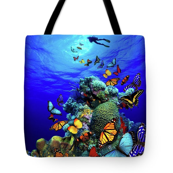 Butterfly Reef Fantasy Tote Bag