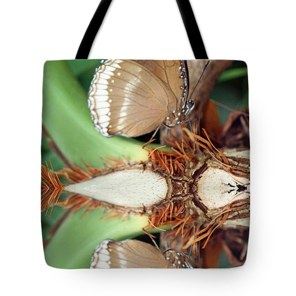 Butterfly Reflection Tote Bag by Karen Adams