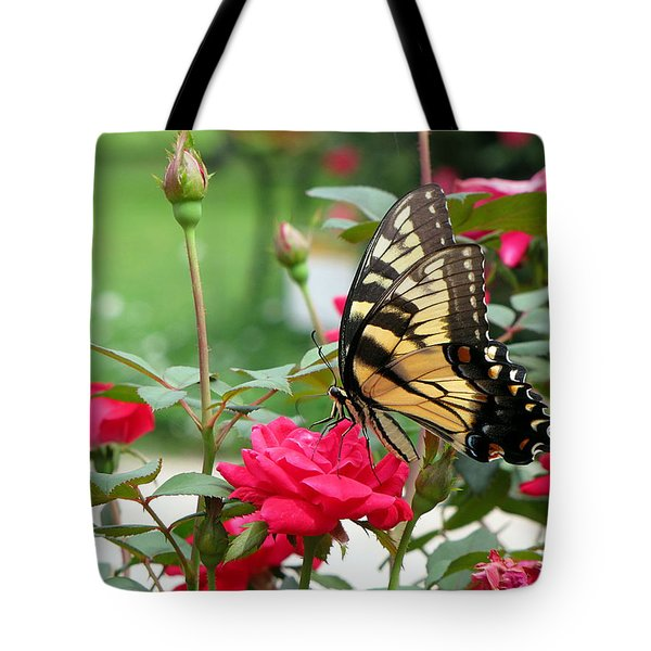 Tote Bag featuring the photograph Butterfly Rose by Greg Simmons