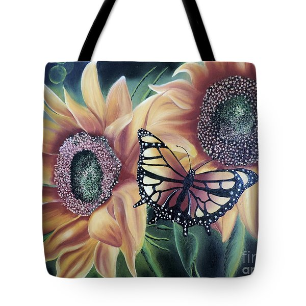 Tote Bag featuring the painting Butterfly Series 5 by Dianna Lewis