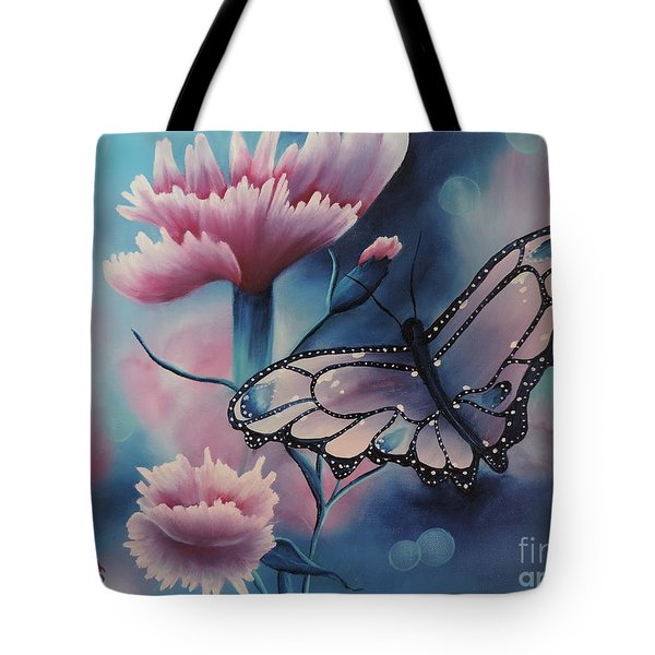 Butterfly Series 6 Tote Bag by Dianna Lewis