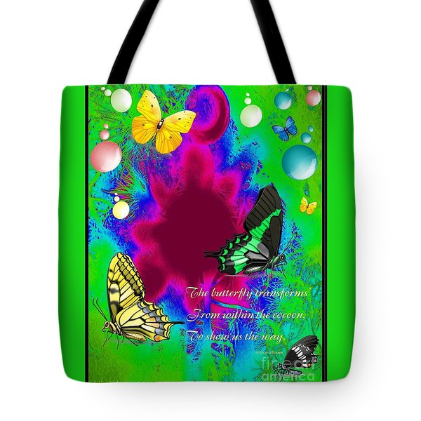 Butterfly Shows The Way Tote Bag
