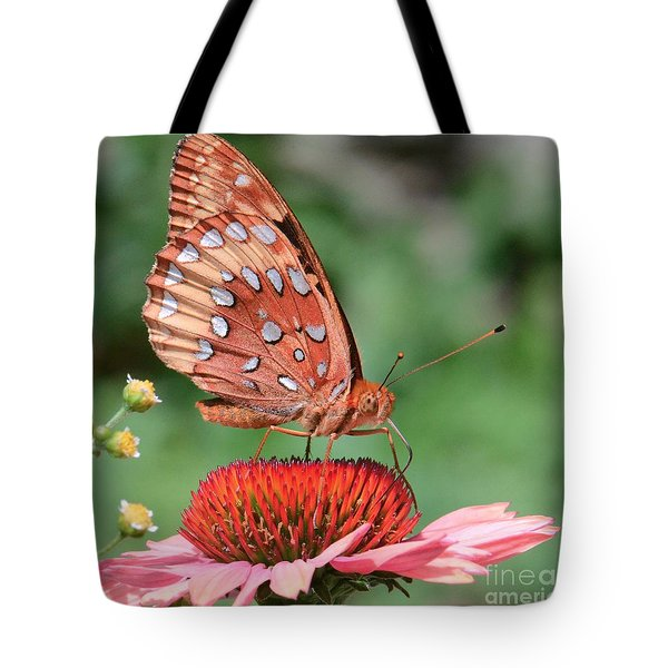 Butterfly Sipping A Coneflower Tote Bag