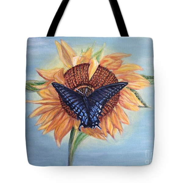 Butterfly Sunday In The Summer Tote Bag