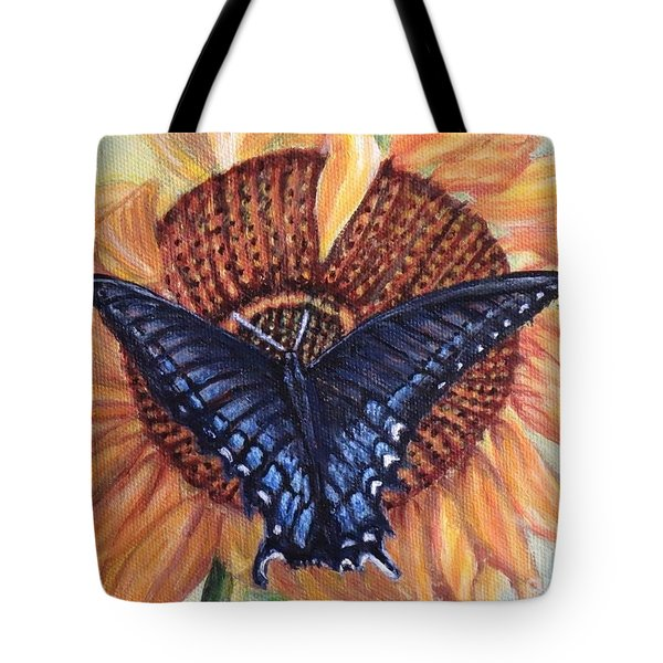Butterfly Sunday Up-close Tote Bag