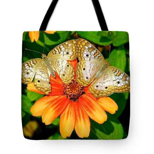 Butterfly Symmetry Tote Bag by Rita Mueller