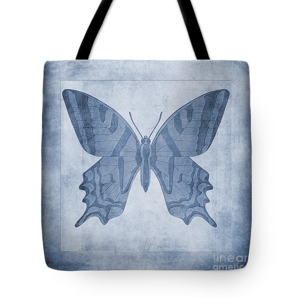 Butterfly Textures Cyanotype Tote Bag