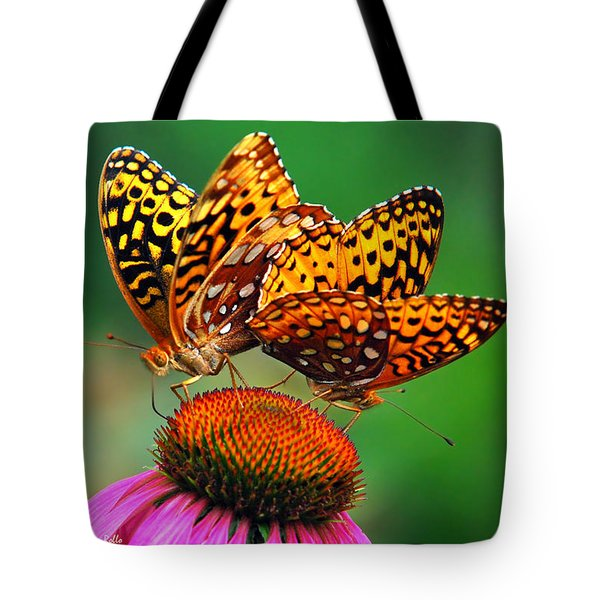 Tote Bag featuring the photograph Butterfly Twins by Christina Rollo