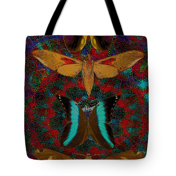 Solar Butterfly Tote Bag