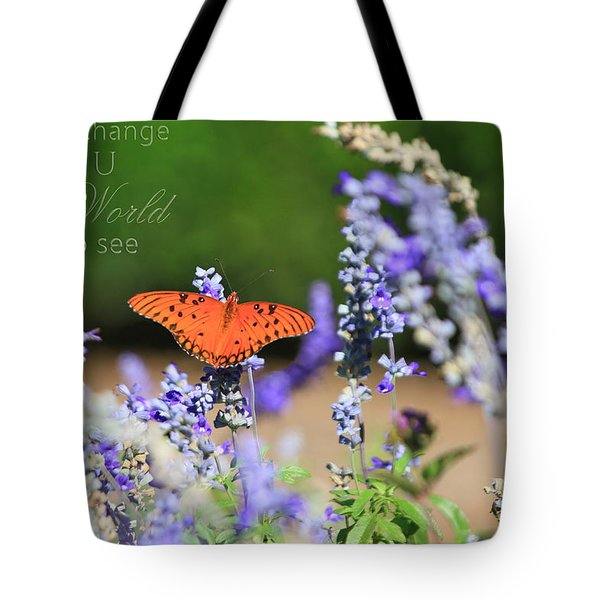 Butterfly With Message Tote Bag