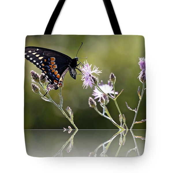 Butterfly With Reflection Tote Bag by Eleanor Abramson