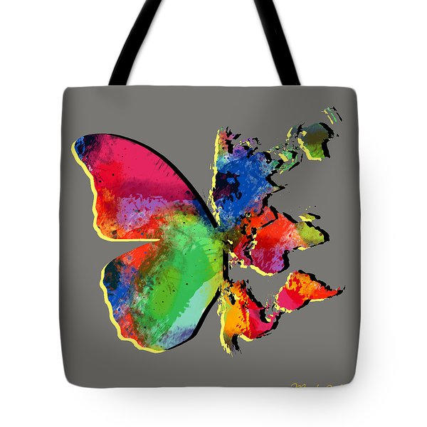 Butterfly World Map 2 Tote Bag by Mark Ashkenazi