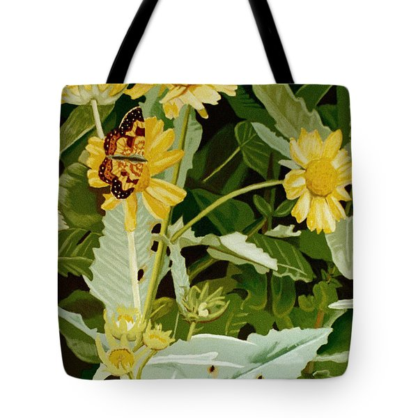 Butterfly Yellow  Tote Bag by Tanya Provines
