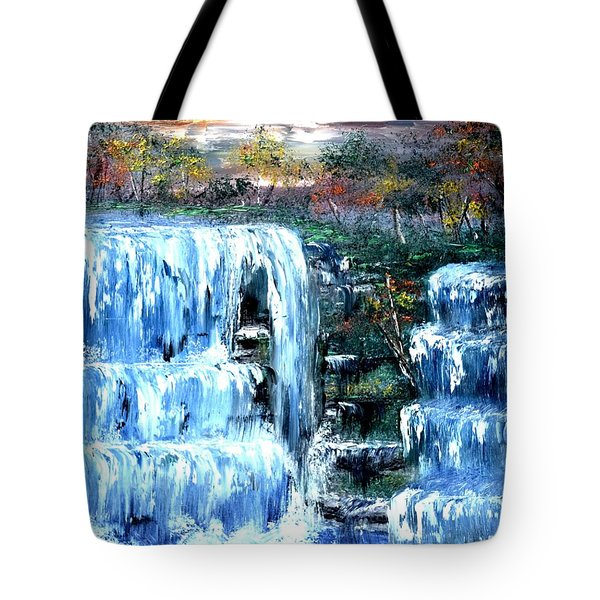 Buttermilk Falls Tote Bag by Denise Tomasura
