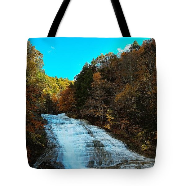 Tote Bag featuring the photograph Buttermilk Falls Ithaca New York by Paul Ge