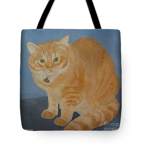Butterscotch The Cat Tote Bag by Mini Arora