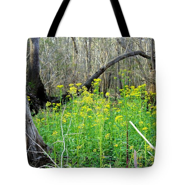 Butterweed Florida Wildflower Tote Bag by Debra Forand