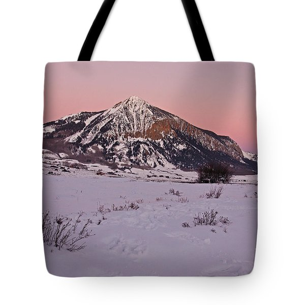 Butte's Winter Glow Tote Bag