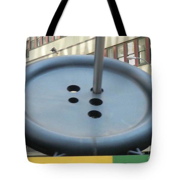 Tote Bag featuring the photograph Button Button by Luther Fine Art