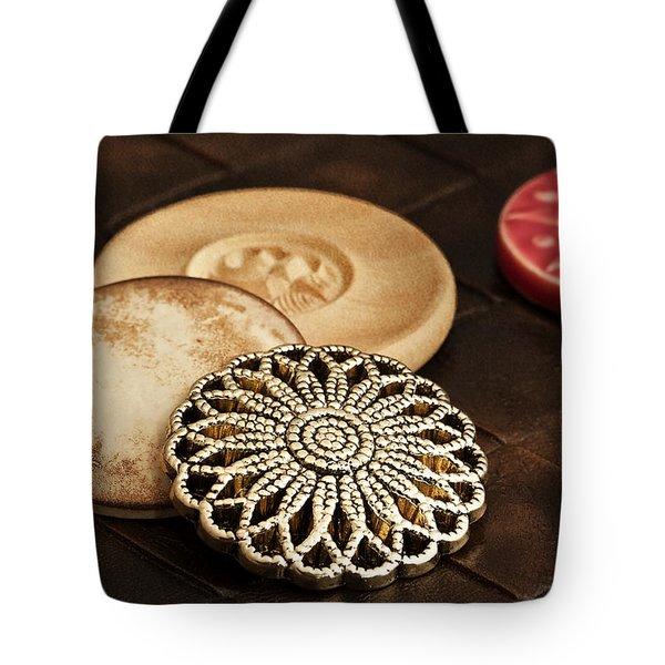Button Still Life Tote Bag