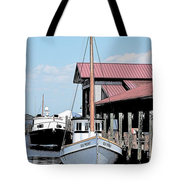Buy Boat Old Point Tote Bag