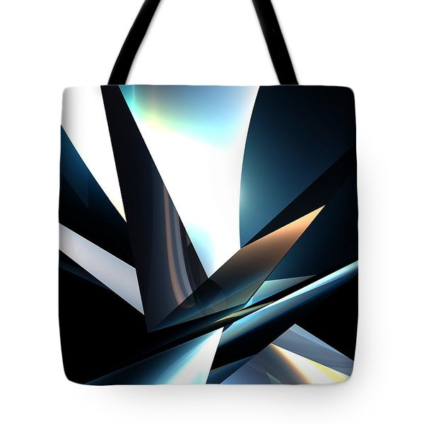 Bw Abstact Tote Bag by Louis Ferreira