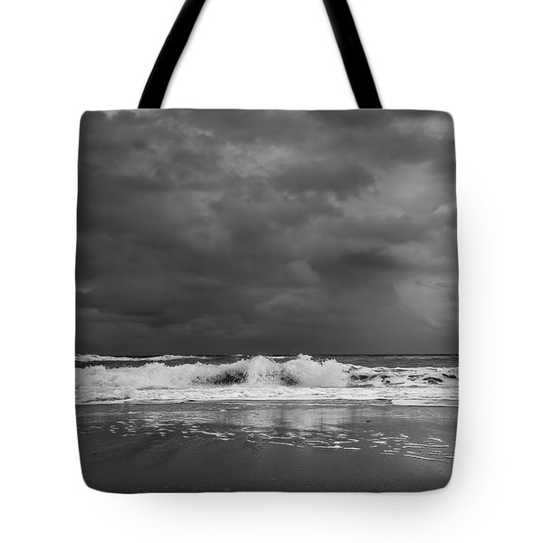 Bw Stormy Seascape Tote Bag