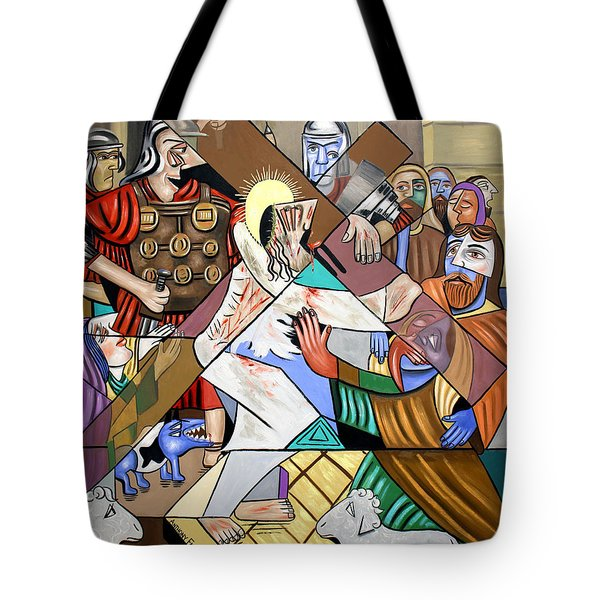 By My Wounds You Were Healed Tote Bag by Anthony Falbo