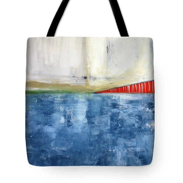 By The Bay- Abstract Art Tote Bag