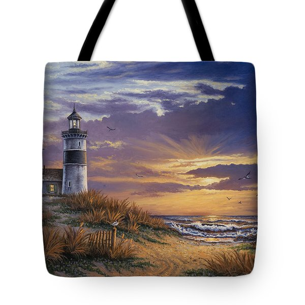 Tote Bag featuring the painting By The Bay by Kyle Wood