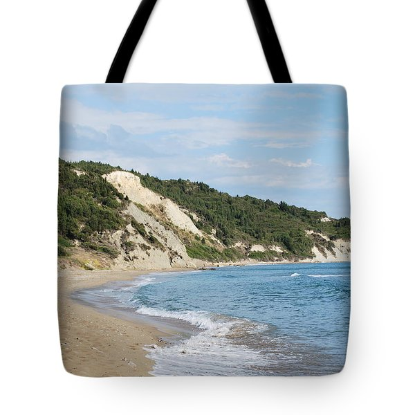 Tote Bag featuring the photograph By The Beach by George Katechis