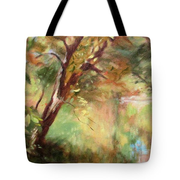 By The Greenway In Autumn- Along The Roanoke River Tote Bag by Bonnie Mason