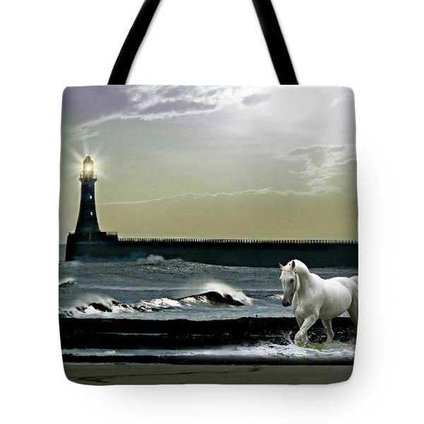 By The Light Of The Silvery Moon Tote Bag by Morag Bates