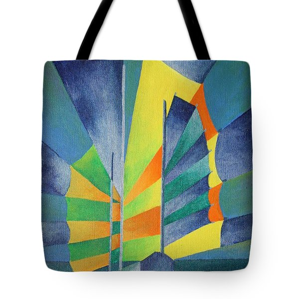 Tote Bag featuring the painting By The Light Of The Silvery Moon by Tracey Harrington-Simpson