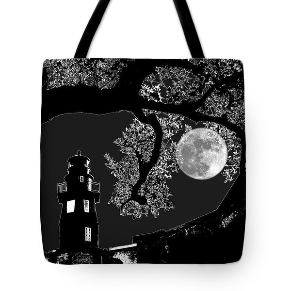 Tote Bag featuring the photograph By The Light by Robert McCubbin