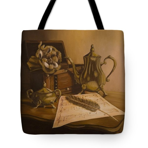 By The Note Paper Tote Bag by Andreja Dujnic
