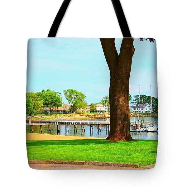 Tote Bag featuring the photograph By The Sea by Judy Palkimas