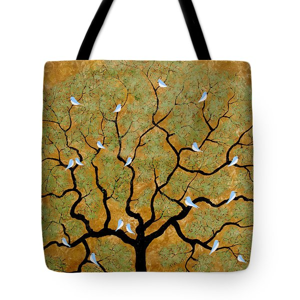 By The Tree Re-painted Tote Bag