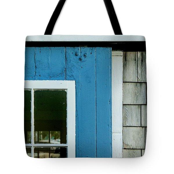 Old Door In Blue Tote Bag