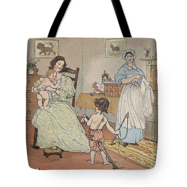 Bye Baby Bunting Tote Bag by Rnadolph Caldecott